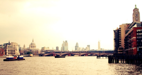 Embankment by the Oxo Tower