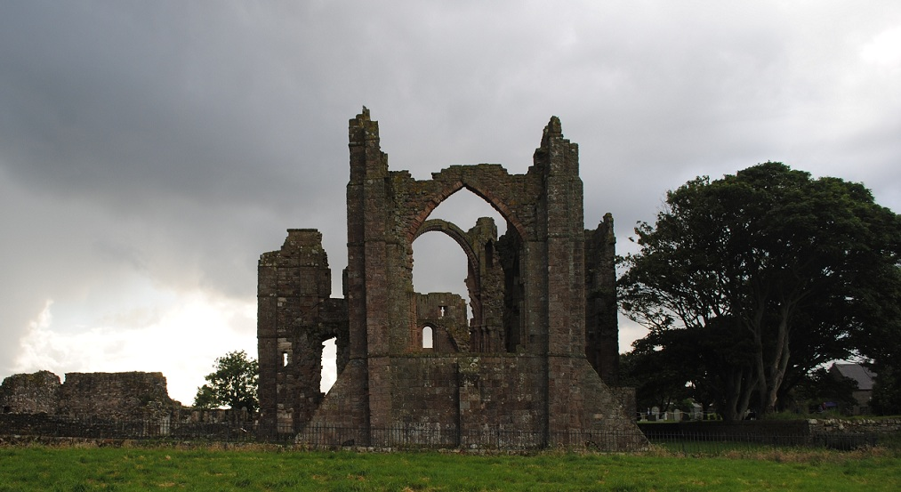 Lindisfarne Priory Ruins and Rainbow Arch